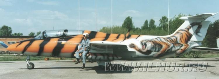 «Тигровый улет» аэрография на самолете L29 1997 г.