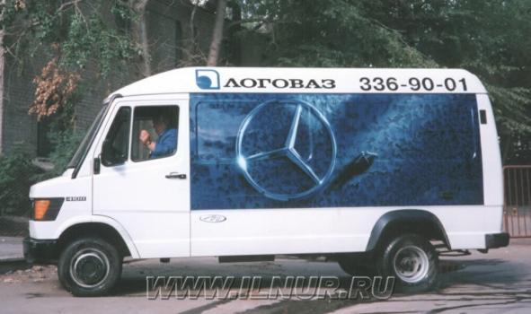 аэрография на автобусе Mercedes 1997 г.