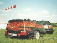 аэрогафия на прицепе BMW