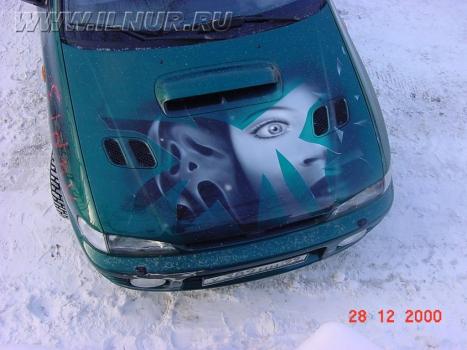 «Крик 3» аэрография на Subaru Impreza  2000 г.
