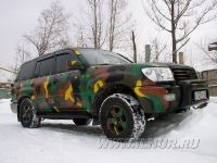 аэрография на Toyota Land Cruiser