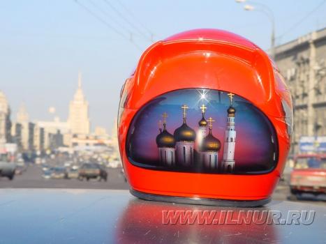 «Шапка с куполами» аэрография на шлеме 2003 г.