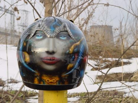 «ГигерСпорт» аэрография на шлеме 2004 г.