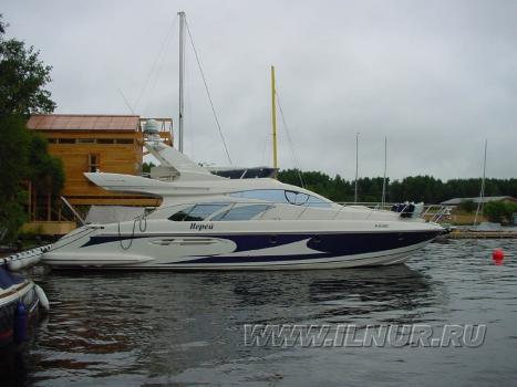 «Нерей» аэрография моторная яхта Azimut 52  2004 г.