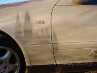 аэрография на Mercedes Benz CLK
