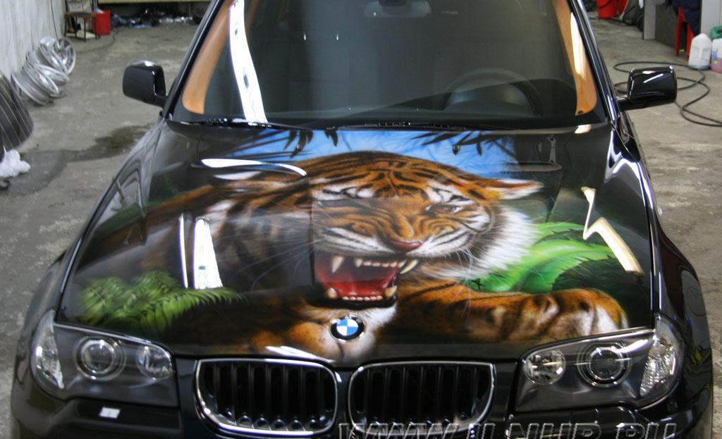 аэрография на капоте BMW X3
