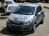 аэрография на капоте Opel