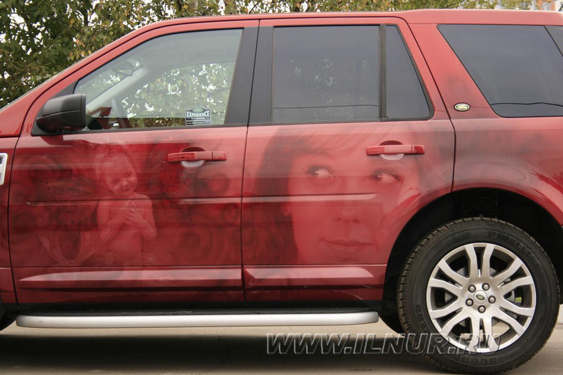аэрография на красной машине