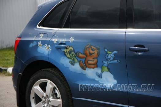 «Трям»  аэрография на Audi Q5  2009 г.