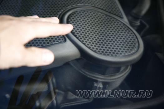 «V6» 3D аэрография на капоте Mercedes-Benz GL 2010 г.