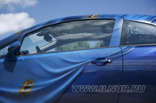 «Сыктывкарская драпировка» аэрография на Opel Corsa OPC 2009 г.