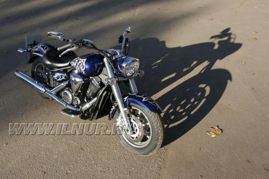 «Кельтские напевы» аэрография на мотоцикле Yamaha MidnightStar 2010 г.