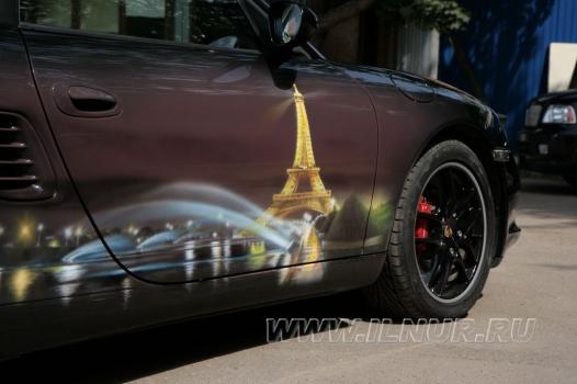 «Париж и все такое…» аэрография на Porsche Boxter  2012 г.