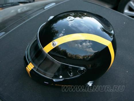 шлем автоспорт с полоской