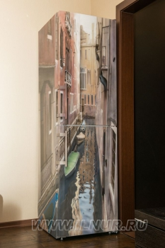 «Венеция на кухне» аэрография на холодильнике 2012 г.