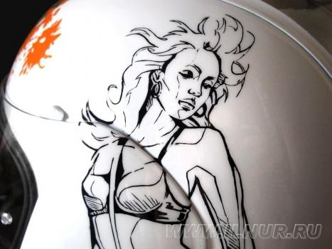 аэрография на шлеме «Город грехов» 2012 г.