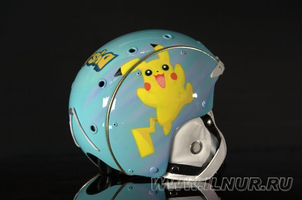 «Марша и покемоны» детский шлем. Аэрография. 2012 г.
