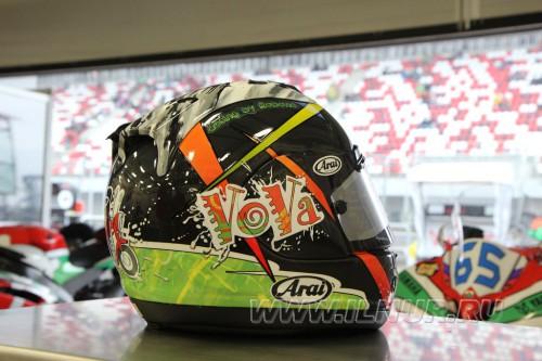 роспись шлема для Владимира Леонова