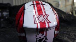 Аэрография шлема в стиле Ducati