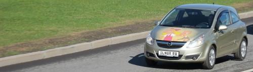 """аэрография на капоте Opel Corsa Хельга из мультфильма """"Эй Арнольд"""
