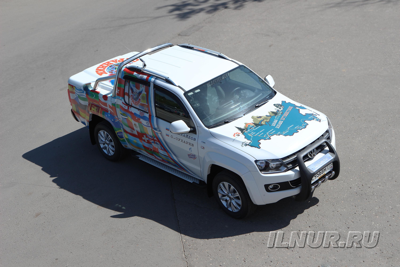 Винилография на VW Amarok «Большое путешествие»