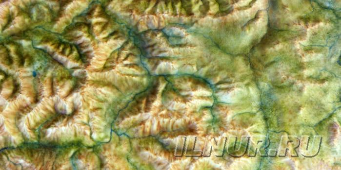 объемная цветная карта