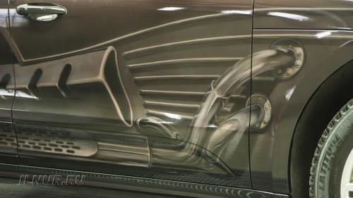 аэрография на автомобиле Porsche Macan