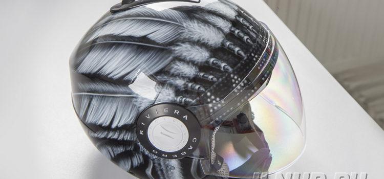 Аэрография на шлеме. Роуч Леонида Закошанского  2017
