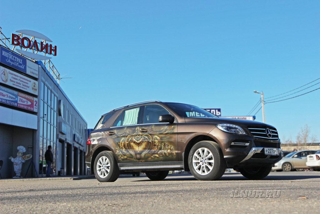 Mercedes ML с аэрографией в техцентре Волин