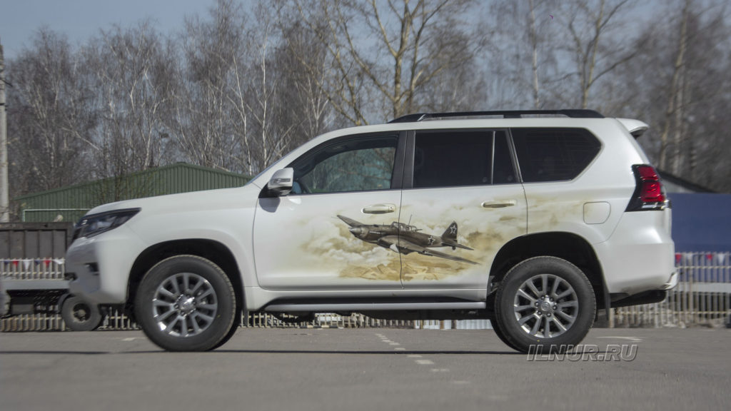 Аэрография на Toyota Land Cruiser Prado Штурмовик ИЛ-2 __